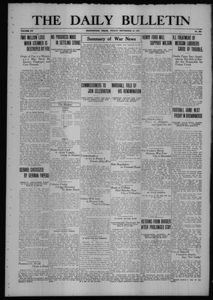Primary view of object titled 'The Daily Bulletin (Brownwood, Tex.), Vol. 15, No. 286, Ed. 1 Friday, September 15, 1916'.