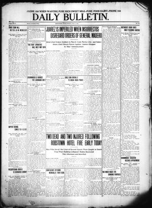 Primary view of object titled 'Daily Bulletin. (Brownwood, Tex.), Vol. 11, No. 172, Ed. 1 Monday, May 8, 1911'.