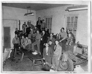 Primary view of object titled '[Volunteer Firemen's Meeting, Early 1950's]'.