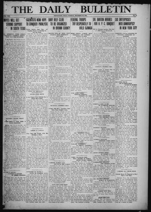 Primary view of object titled 'The Daily Bulletin (Brownwood, Tex.), Vol. 13, No. 51, Ed. 1 Tuesday, December 30, 1913'.