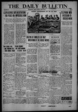 Primary view of object titled 'The Daily Bulletin (Brownwood, Tex.), Vol. 16, No. 55, Ed. 1 Tuesday, December 19, 1916'.