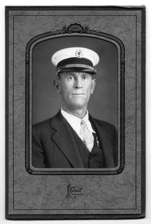 "Primary view of object titled '[Finis Earing ""Red"" Fitzgerald, First Fire Chief of Childress, Texas]'."