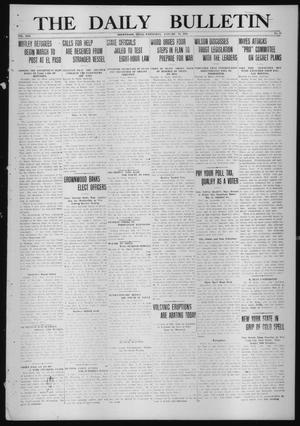 Primary view of object titled 'The Daily Bulletin (Brownwood, Tex.), Vol. 13, No. 64, Ed. 1 Wednesday, January 14, 1914'.