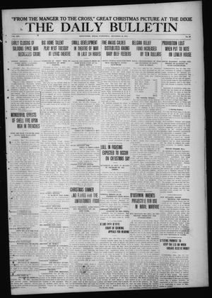 Primary view of object titled 'The Daily Bulletin (Brownwood, Tex.), Vol. 14, No. 59, Ed. 1 Wednesday, December 23, 1914'.