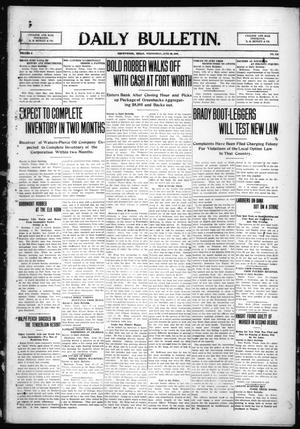 Primary view of object titled 'Daily Bulletin. (Brownwood, Tex.), Vol. 9, No. 213, Ed. 1 Wednesday, June 23, 1909'.
