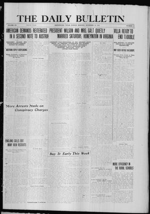 Primary view of object titled 'The Daily Bulletin (Brownwood, Tex.), Vol. 15, No. 55, Ed. 1 Sunday, December 19, 1915'.