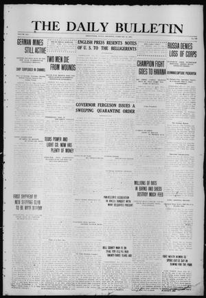 Primary view of object titled 'The Daily Bulletin (Brownwood, Tex.), Vol. 14, No. 113, Ed. 1 Thursday, February 25, 1915'.