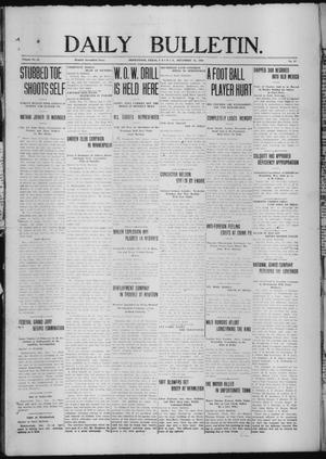 Primary view of object titled 'Daily Bulletin. (Brownwood, Tex.), Vol. 12, No. 47, Ed. 1 Friday, December 15, 1911'.
