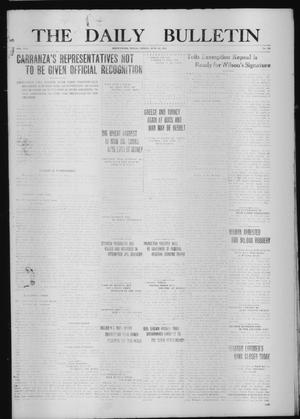 Primary view of object titled 'The Daily Bulletin (Brownwood, Tex.), Vol. 13, No. 192, Ed. 1 Friday, June 12, 1914'.