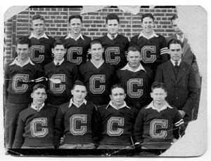 Primary view of object titled '[Childress High School Boys Football Team 1930]'.