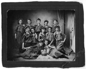 Primary view of object titled '[Childress High School Girls Basketball Team 1903]'.
