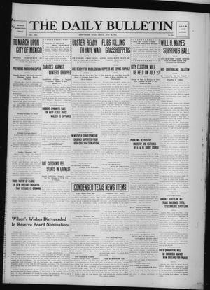 Primary view of object titled 'The Daily Bulletin (Brownwood, Tex.), Vol. 13, No. 215, Ed. 1 Friday, July 10, 1914'.