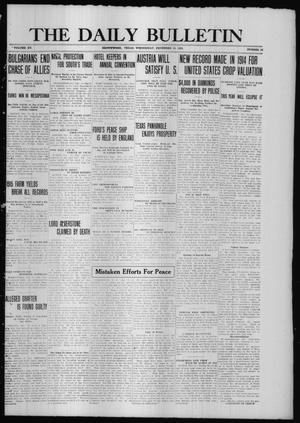 Primary view of object titled 'The Daily Bulletin (Brownwood, Tex.), Vol. 15, No. 52, Ed. 1 Wednesday, December 15, 1915'.