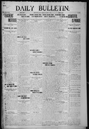 Primary view of object titled 'Daily Bulletin. (Brownwood, Tex.), Vol. 12, No. 297, Ed. 1 Monday, October 7, 1912'.