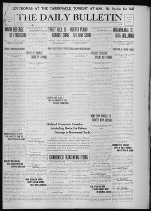 Primary view of object titled 'The Daily Bulletin (Brownwood, Tex.), Vol. 13, No. 218, Ed. 1 Tuesday, July 14, 1914'.