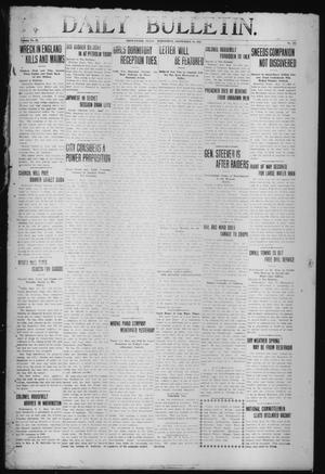 Primary view of object titled 'Daily Bulletin. (Brownwood, Tex.), Vol. 12, No. 281, Ed. 1 Wednesday, September 18, 1912'.