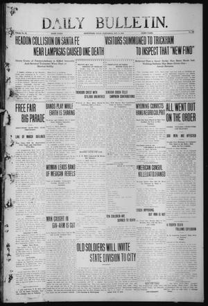 Primary view of object titled 'Daily Bulletin. (Brownwood, Tex.), Vol. 12, No. 293, Ed. 1 Wednesday, October 2, 1912'.