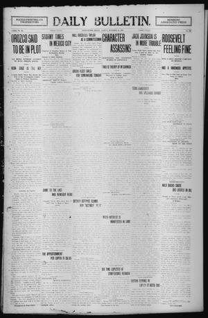 Primary view of object titled 'Daily Bulletin. (Brownwood, Tex.), Vol. 12, No. 307, Ed. 1 Friday, October 18, 1912'.