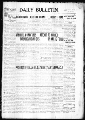 Primary view of object titled 'Daily Bulletin. (Brownwood, Tex.), Vol. 10, No. 251, Ed. 1 Monday, August 8, 1910'.