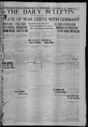Primary view of object titled 'The Daily Bulletin (Brownwood, Tex.), Vol. 16, No. 144, Ed. 1 Tuesday, April 3, 1917'.