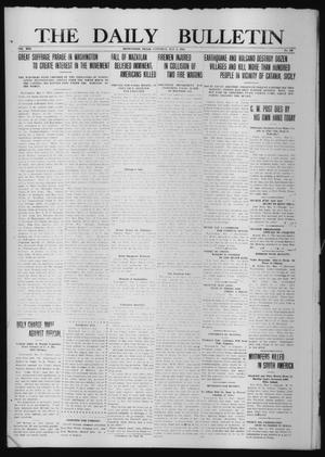 Primary view of object titled 'The Daily Bulletin (Brownwood, Tex.), Vol. 13, No. 163, Ed. 1 Saturday, May 9, 1914'.