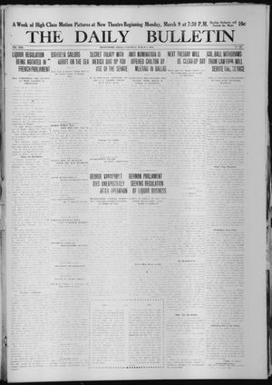 Primary view of object titled 'The Daily Bulletin (Brownwood, Tex.), Vol. 13, No. 109, Ed. 1 Saturday, March 7, 1914'.