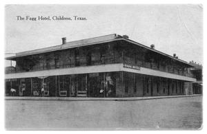 Primary view of object titled 'The Fagg Hotel Childress'.