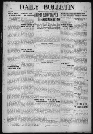 Primary view of object titled 'Daily Bulletin. (Brownwood, Tex.), Vol. 12, No. 279, Ed. 1 Monday, September 16, 1912'.