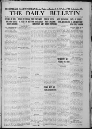 Primary view of object titled 'The Daily Bulletin (Brownwood, Tex.), Vol. 13, No. 124, Ed. 1 Wednesday, March 25, 1914'.