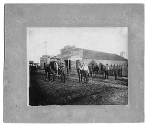 Primary view of object titled 'T.J. Jefferies Livery Stables on Ave C. NE'.