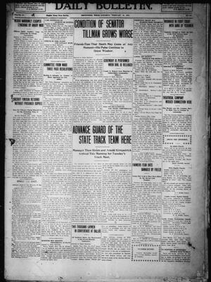 Primary view of object titled 'Daily Bulletin. (Brownwood, Tex.), Vol. 10, No. 107, Ed. 1 Saturday, February 19, 1910'.