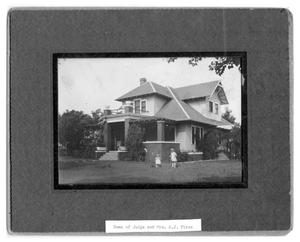 Primary view of object titled 'Home of Judge A.J. Fires'.