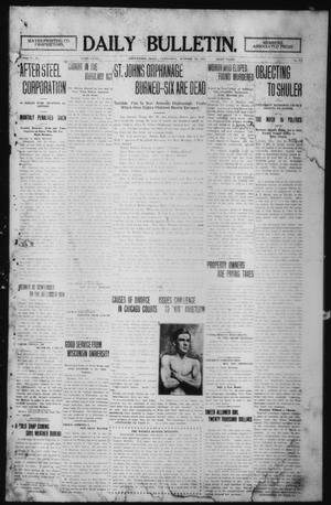 Primary view of object titled 'Daily Bulletin. (Brownwood, Tex.), Vol. 12, No. 317, Ed. 1 Wednesday, October 30, 1912'.