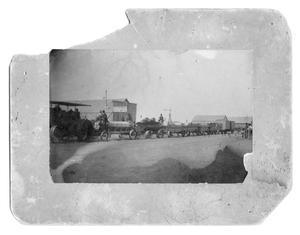 Primary view of object titled 'Haulin' Freight through town, early 1900's'.