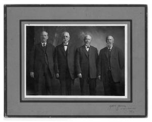 Primary view of object titled 'Four distinguished Childress gentlemen'.
