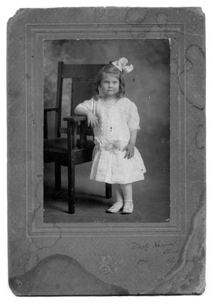 Primary view of object titled 'Delightful little unknown girl'.
