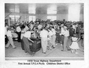 Primary view of object titled '1950 Childress District Office, Texas Highway Dept - 1st picnic'.