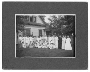 Primary view of object titled 'It's a party at Mrs. J.H.P. Jones' home!'.