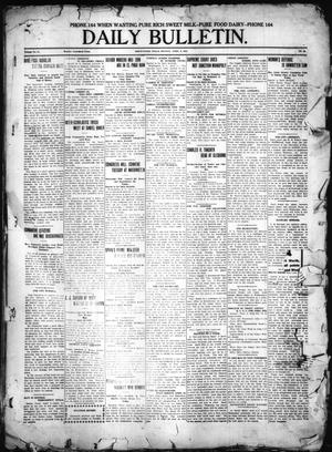 Primary view of object titled 'Daily Bulletin. (Brownwood, Tex.), Vol. 11, No. 48, Ed. 1 Monday, April 3, 1911'.