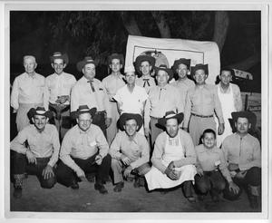 Primary view of object titled 'Col. Sam Privitt and his Chuck Wagon Gang - 1950's'.