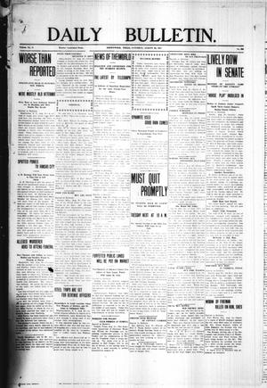 Primary view of object titled 'Daily Bulletin. (Brownwood, Tex.), Vol. 11, No. 266, Ed. 1 Saturday, August 26, 1911'.