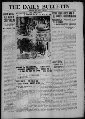 Primary view of object titled 'The Daily Bulletin (Brownwood, Tex.), Vol. 15, No. 203, Ed. 1 Friday, June 9, 1916'.
