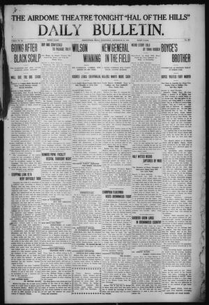 Primary view of object titled 'Daily Bulletin. (Brownwood, Tex.), Vol. 12, No. 287, Ed. 1 Wednesday, September 25, 1912'.