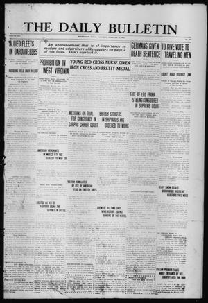 Primary view of object titled 'The Daily Bulletin (Brownwood, Tex.), Vol. 14, No. 115, Ed. 1 Saturday, February 27, 1915'.