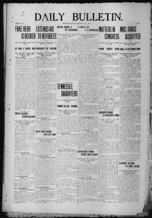 Primary view of object titled 'Daily Bulletin. (Brownwood, Tex.), Vol. 12, No. 244, Ed. 1 Saturday, August 3, 1912'.