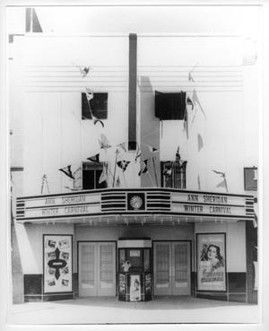 Primary view of object titled 'Facade of the Monogram, the oldest P-L theater'.