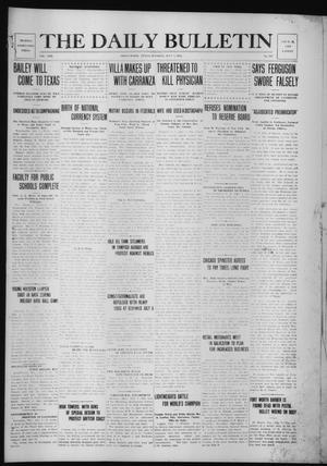 Primary view of object titled 'The Daily Bulletin (Brownwood, Tex.), Vol. 13, No. 212, Ed. 1 Tuesday, July 7, 1914'.