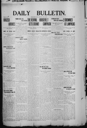 Primary view of object titled 'Daily Bulletin. (Brownwood, Tex.), Vol. 12, No. 224, Ed. 1 Thursday, July 11, 1912'.