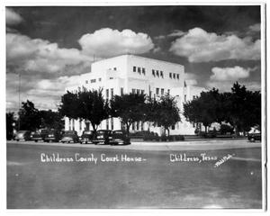 Primary view of object titled '[Fourth Courthouse in Childress, Texas]'.