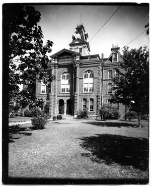 Primary view of object titled '[Third Courthouse in Childress, Texas Torn Down 1939]'.